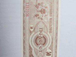 50 dinaru , Makedonija , 1992 unc