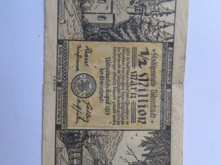 1 / 2 milijono markiu , Vohrenbach Vokietija ,1923