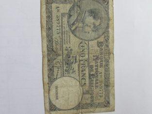 5 francs , Belgija , 1938