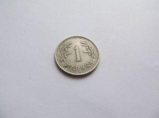 1 markka , Suomija , 1929