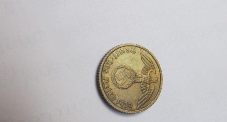 5 reichspfennig , Vokietija , 1939 A .