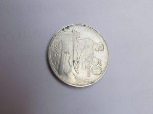 50 santimu , Latvija , 1922