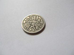 50 haleru , Čekoslovakija , 1922