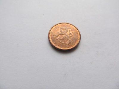 1 euro centas , Suomija , 2007
