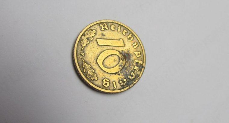 10 reichspfennig , Vokietija , 1937 F