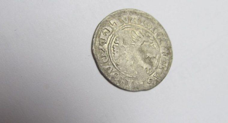 Pusė grašio , A.Jogailaitis , 1495 – 1506 sidabras