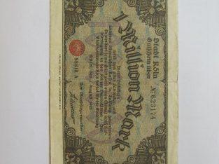 1 milijonas mark , Kelnas Vokietija , 1923