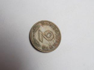 2 reichspfennig , Vokietija , 1938 A ..