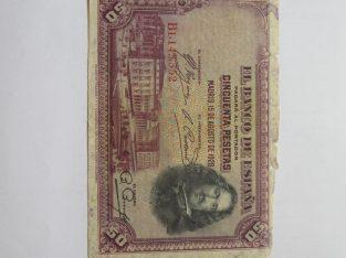 50 pesetu , Ispanija , 1928