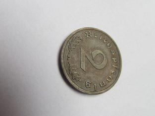 2 reichspfennig , Vokietija , 1938 A .