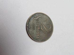 2 santimi , Latvija , 1928
