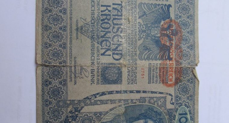 1000 kronu , Austro Vengrija , 1902