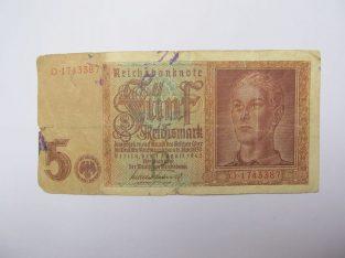 5 reichsmark , Vokietija , 1942 retesnis .