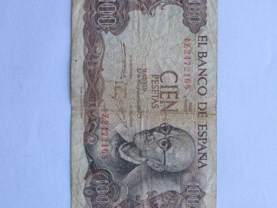 100 pesetas , Ispanija , 1970