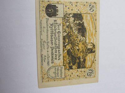 Notgeldas 50 pfennig ,Frankenhausen Vokietija,1921