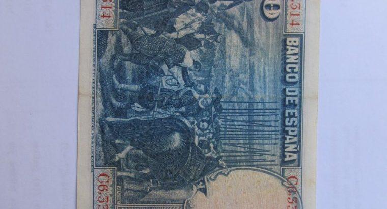 50 pesetu , Ispanija , 1928 .