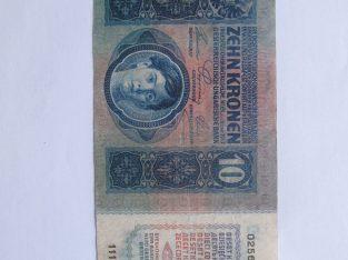 10 korona , Austro Vengrija , 1915
