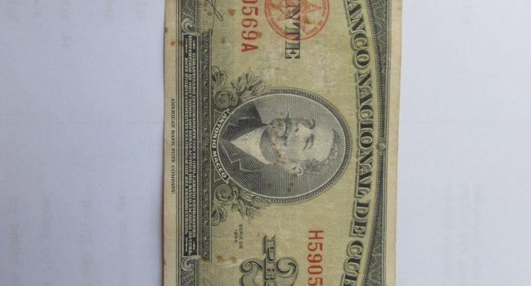 20 pesos , Kuba , 1958