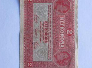 2 kronos , Austro Vengrija , 1917
