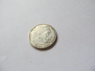2 reichsmark , Vokietija , 1939 A sidabras