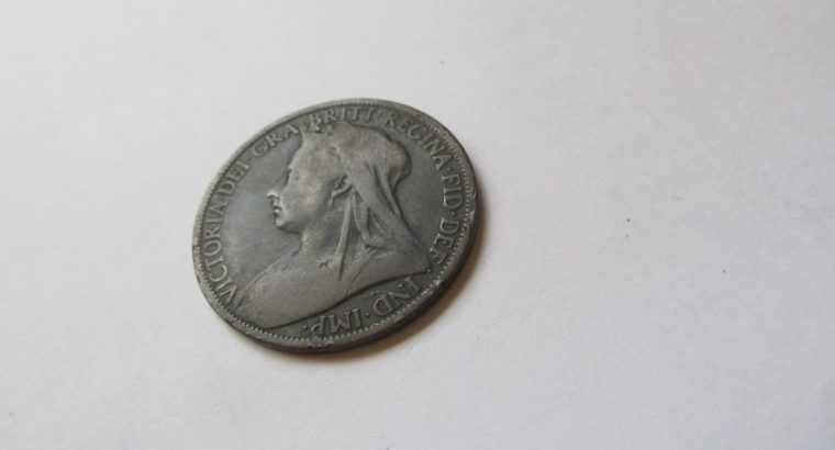1 penny , Anglija , 1900