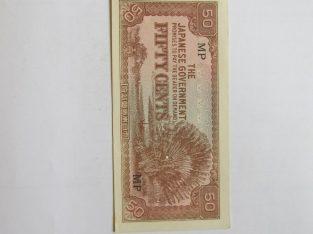 50 cents , Malajai Japonijos okupacija 1942