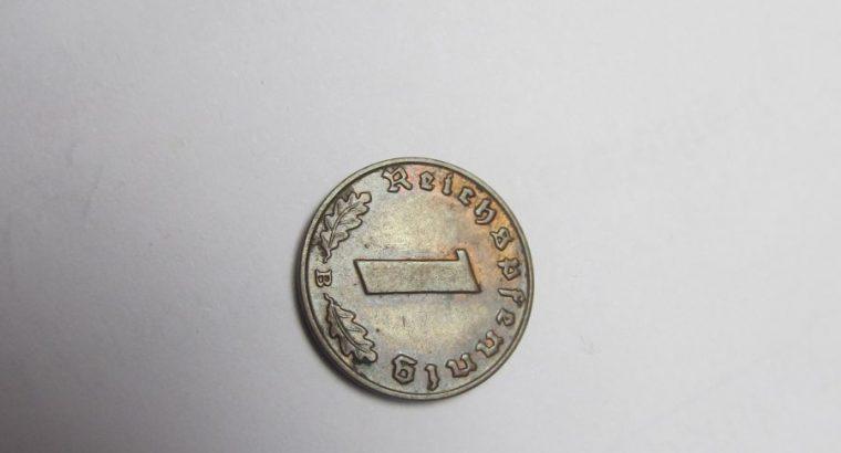 1 reichspfennig , Vokietija , 1939 B