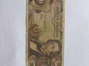 20 šilingu , Austrija , 1967