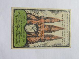 Notgeldas 30 pfennig , Altona Vokietija , 1921