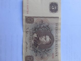 5 kronor , Švedija , 1956
