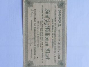 50 milijonu markiu , Stollberg Vokietija , 1923