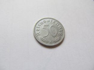50 reichspfennig , Vokietija , 1940 A