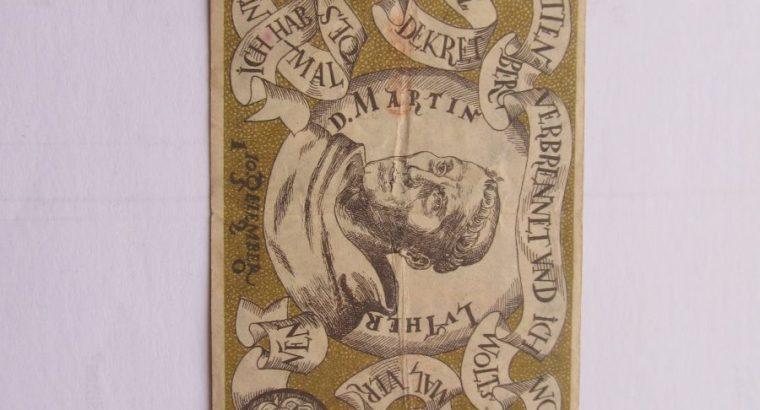 Notgeldas 50 pfennig , Witenberg Vokietija , 1920