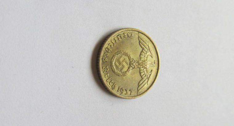 5 reichspfennig , Vokietija , 1937 A