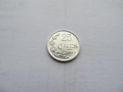 25 centimes , Liuksemburgas , 1967