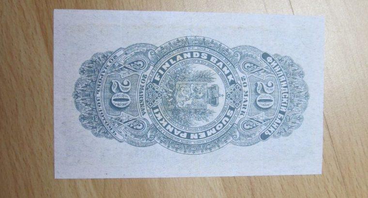 20 mark , Suomija , 1898
