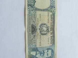 500 pesos , Bolivija , 1981