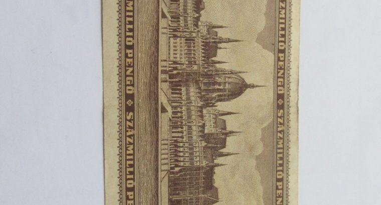 100 milijonu pengo , Vengrija , 1946