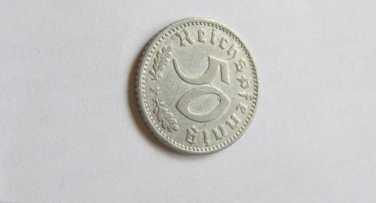 50 reichspfennig , Vokietija , 1941 F