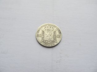 50 centimes , Belgija, 1899 sidabras