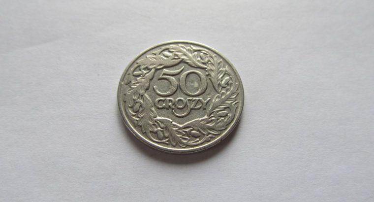 50 groszy , Lenkija , 1923 .