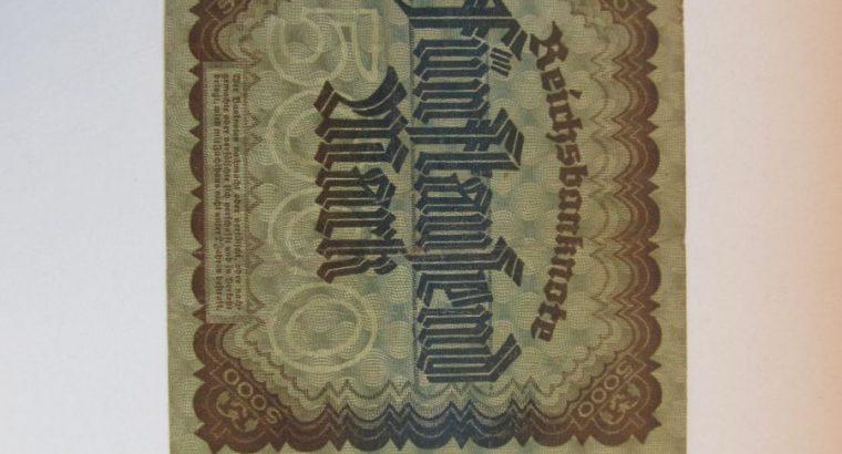 5000 mark , Vokietija , 1922