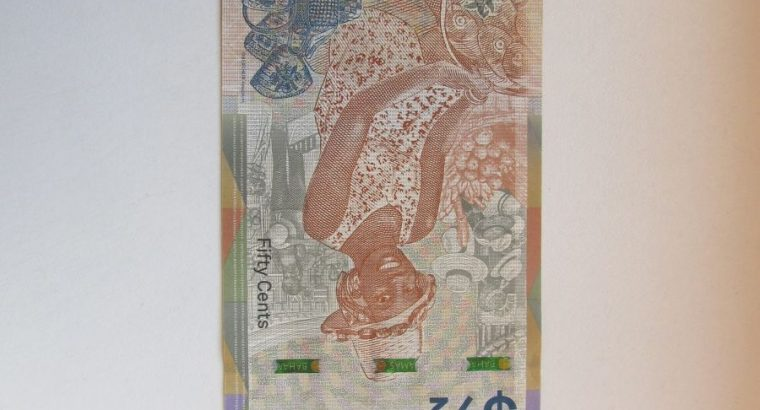 1 / 2 dolerio , Bahamos , 2019 unc