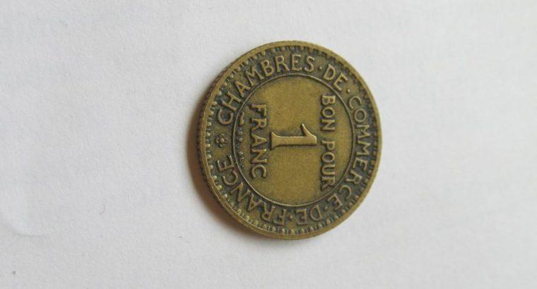 1 franc , Prancūzija , 1923