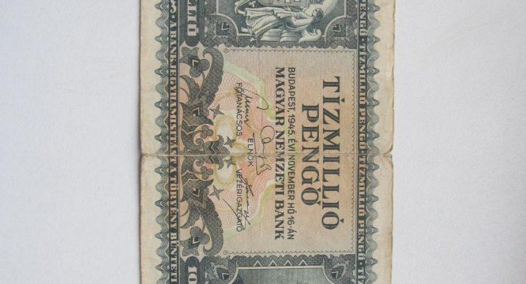 10 milijonu pengo , Vengrija , 1945