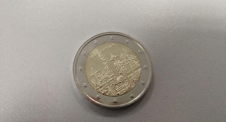 2 euru progine moneta skirta Kryziu kalnui UNC