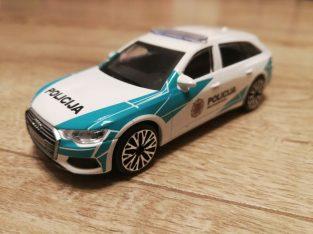 Audi A6 Avant lietuviskos policijos modeliukas su užrašu POLICIJA
