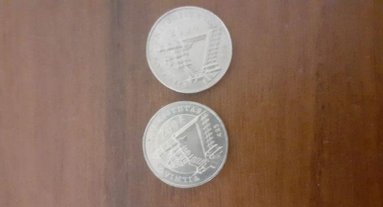 18 vnt 1 lito monetų