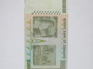 20 bilijonu doleriu , Zimbabvė , 2008 unc