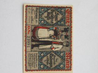 Notgeldas 1 mark , Eisbergen Vokietija , 1921